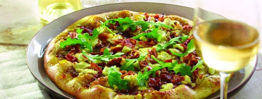 Prosciutto, Fig and Goat Cheese Pizza
