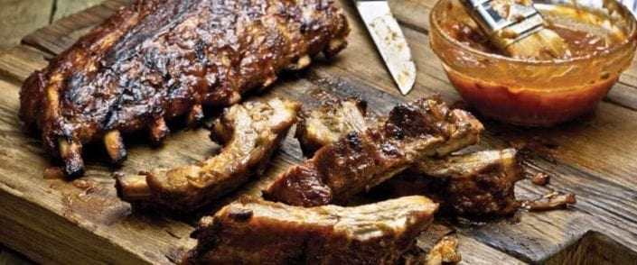 Baby Back Ribs with Apple-Bourbon Barbecue Sauce