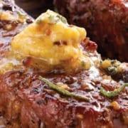 grilled buffalo steaks